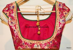 Backless Blouse Celebrity Sarees, Designer Sarees, Bridal Sarees, Latest Blouse Designs 2014 South India Fashion