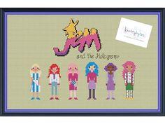 Jem and the Holograms Cross Stitch DIGITAL PDF pattern by knottybytes $5