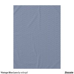 Vintage Blue Lace Tablecloth