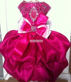 Formal dog dress,Swarovski Crystals,Rhinestones,Beads.Fully lined – La Vita Pet…