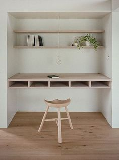 Very Scandinavian minimalistic style, note the design bench.