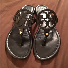 Tory burch matte black Miller sandals 7.5 No holds trades or bundles. FIRM PRICE. (103) Tory Burch Shoes Sandals