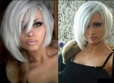 Gorgeous platinum blonde bob hairstyle