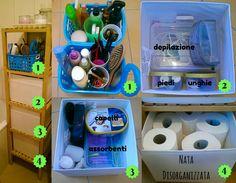 Nata disorganizzata: Come organizzare il bagno