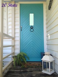 38 ideas for tiffany blue door front entrance Doors, Exterior Doors, House Exterior, Exterior Paint, Front Door, House Painting, Front Entrances, Door Window Treatments, Painted Front Doors