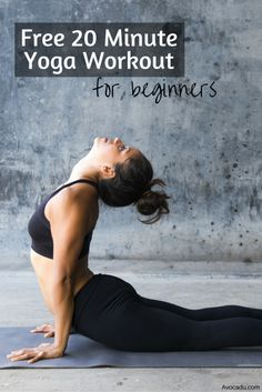 20 Minute Yoga Workout for Beginners - Avocadu