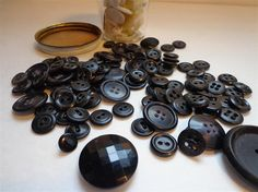 Lot of Vintage Black and White Buttons