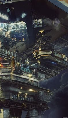 Cyber City Life | #cities If I were a cat, I would love exploring this city. #cyber #art #Cybercity #cyberpunk #conceptart #arteverywhere Cyberpunk Aesthetic, Cyberpunk City, Arte Cyberpunk, Futuristic City, City Landscape, Fantasy Landscape, Landscape Concept, Environment Concept Art, Environment Design