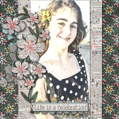 A picture of my daughter.  Kit used: Celebrate Today by Created By Jill available with October's Scrapstacks Scrap Pack at http://scrapstacks.com/scrappack/