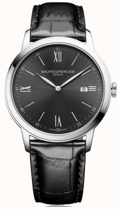 Discover the Classima 10416 dial & Tone on tone watch for men with Quartz movement, designed by Baume et Mercier, Manufacturer of Swiss Watches Bracelet Cuir, Retro Chic, Luxury Watches, Quartz Watch, Watches For Men, Men's Watches, Nice Watches, Omega Watch, Black Leather