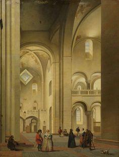 Het transept van de Mariakerk te Utrecht, gezien vanuit het noordoosten, Pieter Jansz. Saenredam, 1637