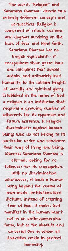 Sanatana Dharma.