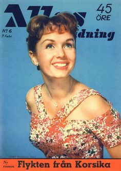 Debbie Reynolds on the cover of Allas Veckotidning (A Swedish Magazine) No. Eddie Fisher, Carrie Fisher, Lady Sybil, Leslie Caron, Mary Martin, Jessica Brown Findlay, Victoria Principal, Claudette Colbert, Newspaper Cover