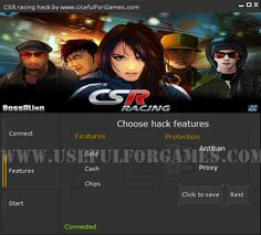 New cheats tool from Useful for games team is CSR Racing hack http://usefulforgames.com/csr-racing-hack-tool