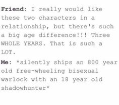 Malec // I JUST NOTICED THEY HAVE SUCH A BIG AGE GAP OMG WHAT IS LIFE