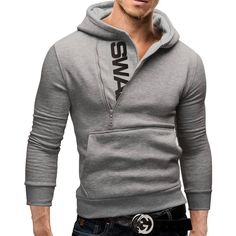 AW15 Men's Sweatshirts Hoodies Sporty Side zipper Velvet contrast color hooded 5XL sweatshirt hoodie sueter con capucha|5c438e85-20e8-4e2e-beae-67379f03b762|Hoodies & Sweatshirts