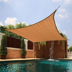 Large Square Sail Sun Shade, for over the cement patio