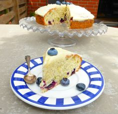 Blueberry and Courgette Cake with Lemon Buttercream