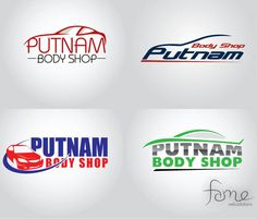Logo Concepts for an Auto Body shop in Mableton, Georgia as a part of their website redesign project. http://www,putnamcollision.com