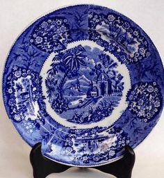 Antique Petrus Regout Delft Blue Plate by De Sphinx by Hoopties, $14.00 USD #zibbet