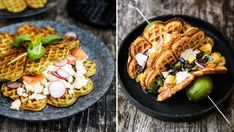 Paella, Ricotta, Waffles, Mango, Breakfast, Ethnic Recipes, Food, Frases, Cilantro