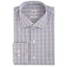 Peter Millar Crown Finish Pin Tattersall Sport Shirt-Harvest-Size -XL-$125.00