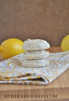 Flourless Lemon Cookies - My Whole Food Life | Pinning this here for now until I can try out this recipe with some modifications like sugar free maple syrup, and maybe almond butter with some kind of thickener like arrowroot.