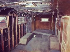 Ding dong, the wicked wet room is dead! 02/03/2016 #spartanimperialmansion #spartantrailer #airstream #notanairstream #vintagetrailer #demolition #renovation #tinyhouse #tinyhouseonwheels