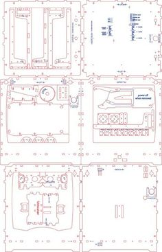 Ultimaker Lasercut Drawings (separate files) by davr.