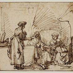 Rembrandt, Christus bij Martha en Maria, 1669. Teylers Museum