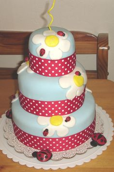 Ladybug Cake - so I did this cake last September for my daughters first birthday!! I'm just now getting around to posting all of my pics on this site!! Enjoy!