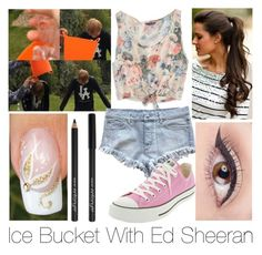 """""""Ice Bucket With Ed Sheeran"""" by bricel1d ❤ liked on Polyvore featuring beauty, American Eagle Outfitters, Maurie & Eve and Converse"""