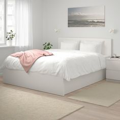 14 Trendy Bedroom Design and Decor Ideas for Your Next Makeover - The Trending House Cama Malm Ikea, Bed Ikea, White Ikea Bed, Ottoman Bed, White Ottoman, Brown Ottoman, Sofa Beds, Upholstered Beds, Room Ideas Bedroom