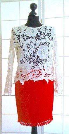 NEU ! Roter Spitzen-Rock,Größe M, 49cm lang, Taillen-Gummizug, in Kleidung & Accessoires, Damenmode, Röcke | eBay!
