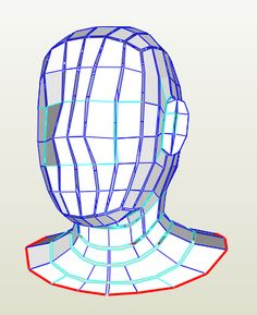 Head - Foam Pepakura File on Onekura. Make your own costumes and accessories.