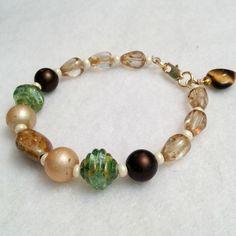 walk in the woods beadwork bracelet by DonnaDStore on Etsy