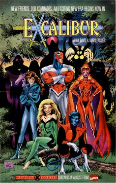 Excalibur promo poster by Alan Davis and Mark Farmer.