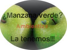 Ambientadores, aromatizadores, manzana verde, aroma a manzana verde, olor a manzana verde, #ambientiza