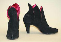 Boots Salvatore Ferragamo  (Italian, founded 1929) Designer: Salvatore Ferragamo (Italian, 1898–1960) Date: 1949 Culture: Italian Medium: suede Accession Number: 1995.384.6a, b