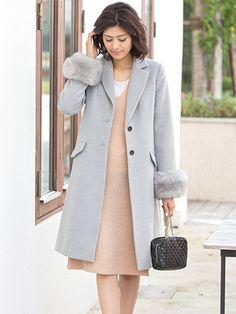 袖ファー付チェスターコート | レディースファッション通販サイトFABIA(ファビア)