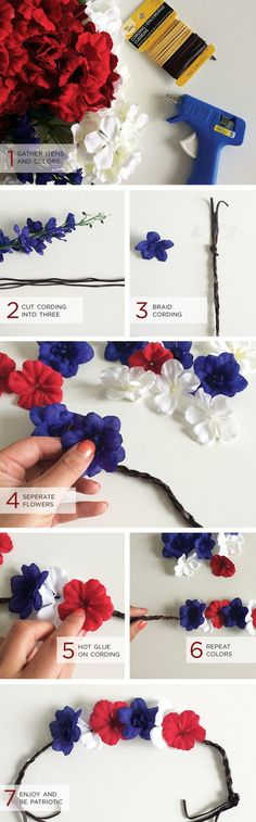 DIY Patriotic Hair Bun Tutorial