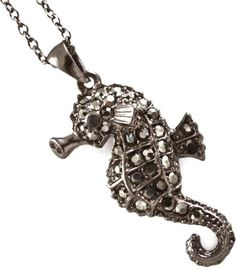 NEW SEAHORSE necklace black or white set POSSIBLE BONUS