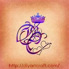 Monogramma OC cuori e corona