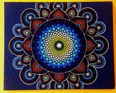 BarbaraMandalaTFS#41 Hand painted Mandala#50x40cm#Meditacion#Power symbole#Relax#Million dots#41 by BarbaraMandalaTFS on Etsy