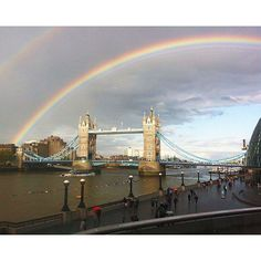 Double rainbow and #TowerBridge #London