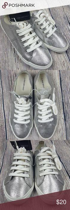 Lane Bryant Silver Sneakers Size 9 Lane Bryant Silver Sparkle Sneakers (Bin 17) Lane Bryant Shoes Athletic Shoes