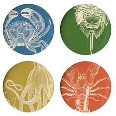 Thomas Paul Sea Life Dinner Plate (Set of 4)   Wayfair