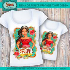 Elena of avalor digital printable t-shirt elena by SweetCardsStore