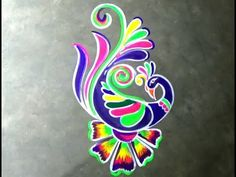 This art is made by easy technique. I have drawn this design with earth colour.if you want to keep the design on your floor for several days,do not wash it w. Rangoli Colours, Rangoli Patterns, Rangoli Ideas, Rangoli Designs Diwali, Kolam Rangoli, Indian Rangoli, Rangoli Designs Latest, Simple Rangoli Designs Images, Rangoli Designs With Dots
