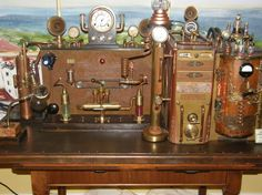 Steampunk Computer-Station